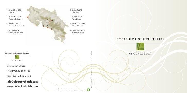 Brochure - Small Distinctive Hotels 2010
