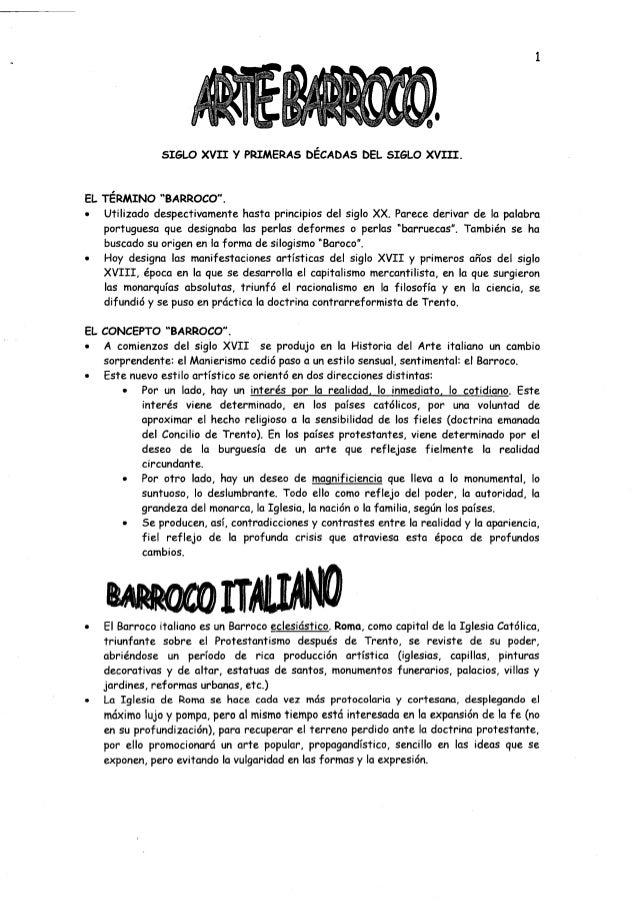 """SIGLO XVII y PRIMERAS DÉCADAS DEL SIGLO XVIII. EL TERMINO """"BARROCO"""". • Utilizado despectivamente hasta principios del sigl..."""