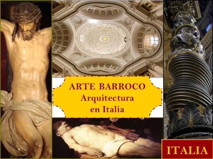 ARTE BARROCO  Arquitectura    en Italia                 ITALIA