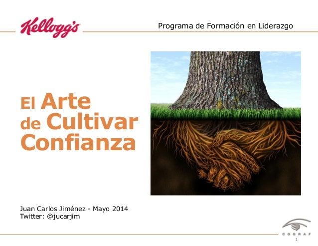 1El Arte de Cultivar Confianza – Juan Carlos Jiménez – @jucarjim – Marzo 2014 El Arte de Cultivar Confianza Programa de Fo...