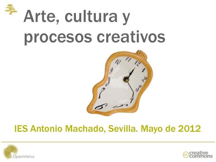 Arte, cultura y procesos creativos