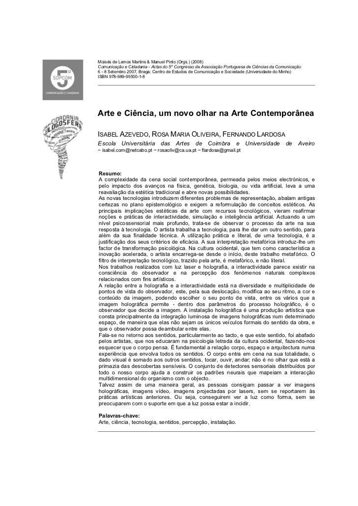 Moisés de Lemos Martins & Manuel Pinto (Orgs.) (2008)Comunicação e Cidadania - Actas do 5º Congresso da Associação Portugu...