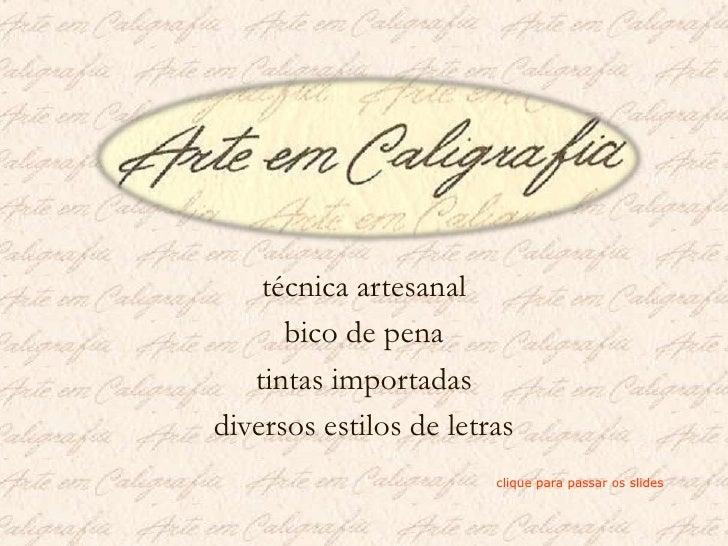 Arte em caligrafia    vivaldi 2007