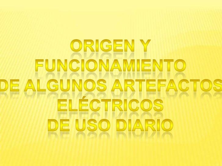 Artefactos electricos