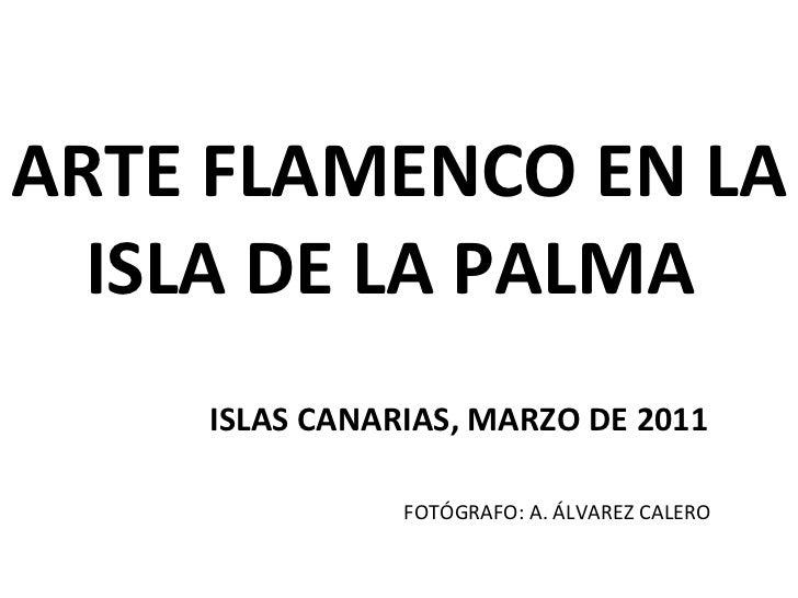 ARTE FLAMENCO EN LA ISLA DE LA PALMA  ISLAS CANARIAS, MARZO DE 2011 FOTÓGRAFO: A. ÁLVAREZ CALERO