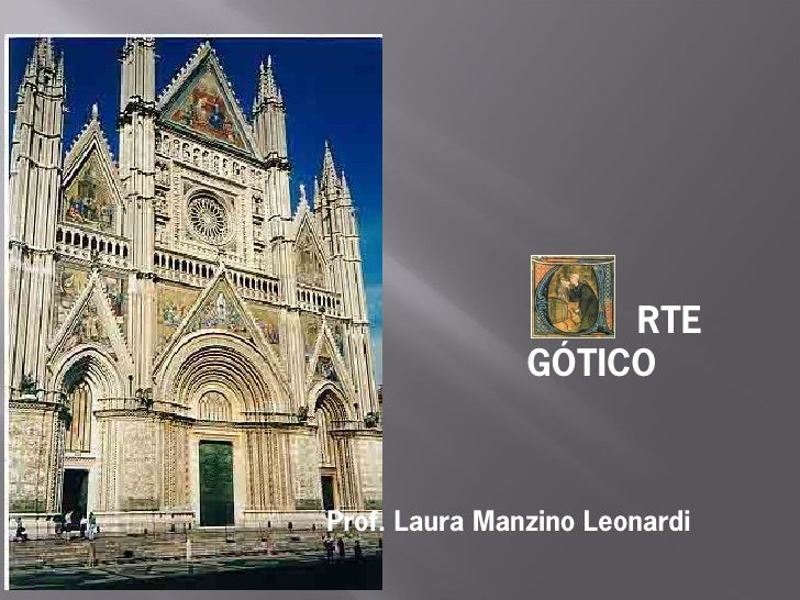 RTE                GÓTICO    Prof. Laura Manzino Leonardi