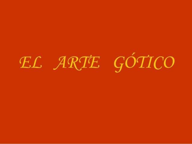 El Gran Arte gótico