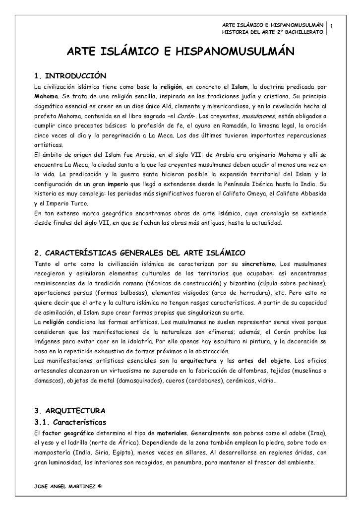 ARTE ISLÁMICO E HISPANOMUSULMÁN         1                                                                    HISTORIA DEL ...