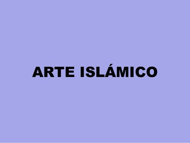 ARTE ISLÁMICO