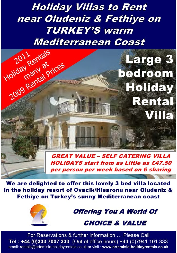Artemisia Forest View Villas holiday rental brochure