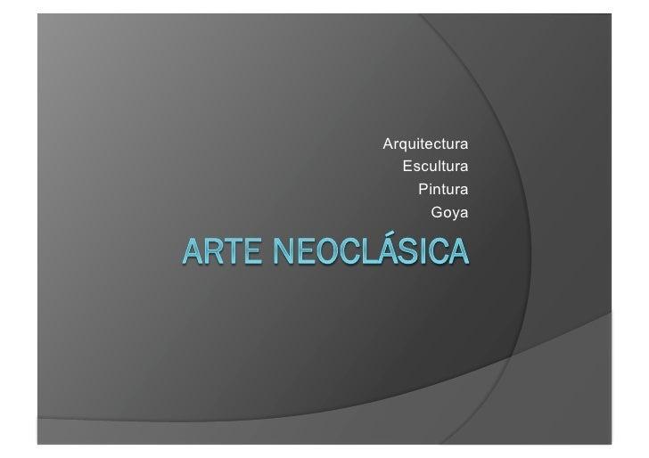 Arte Neoclásica
