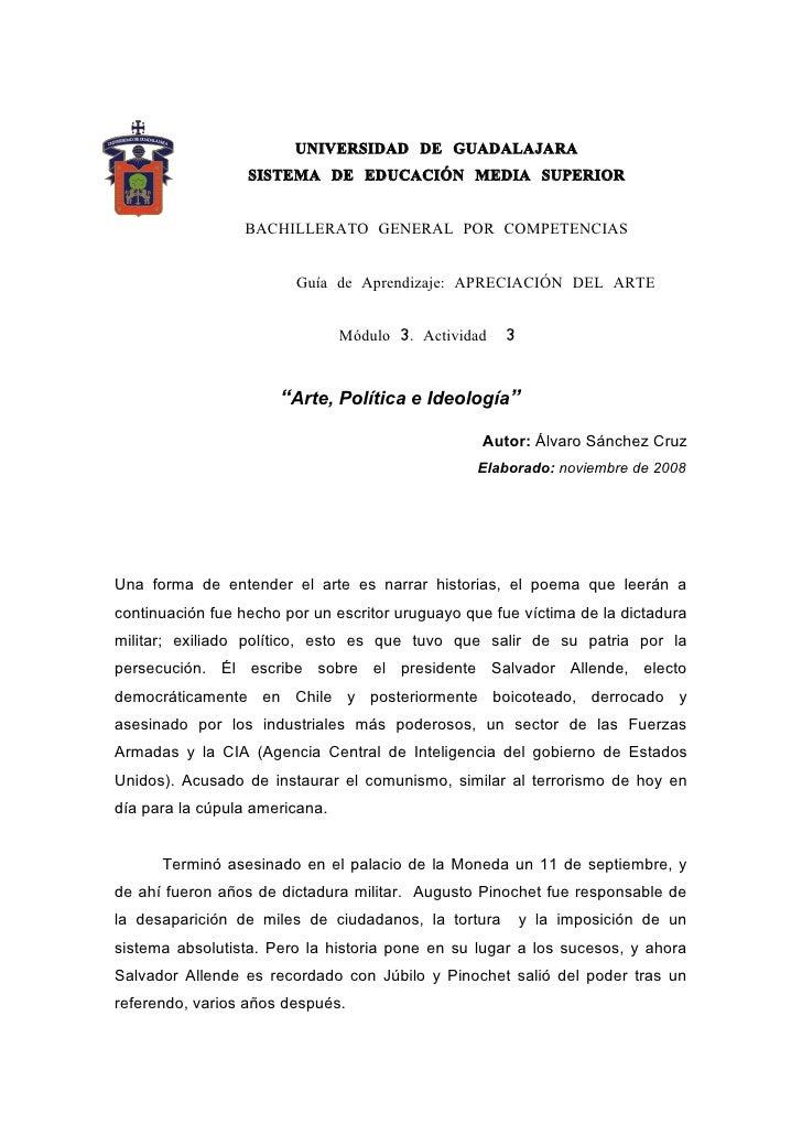 UNIVERSIDAD DE GUADALAJARA                   SISTEMA DE EDUCACIÓN MEDIA SUPERIOR                    BACHILLERATO GENERAL P...