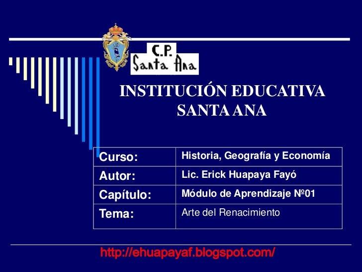 85 AÑOS   INSTITUCIÓN EDUCATIVA         SANTA ANACurso:                Historia, Geografía y EconomíaAutor:               ...