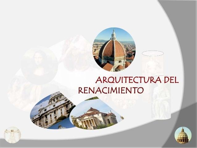 Arte renacimiento arquitectura  2010 2011