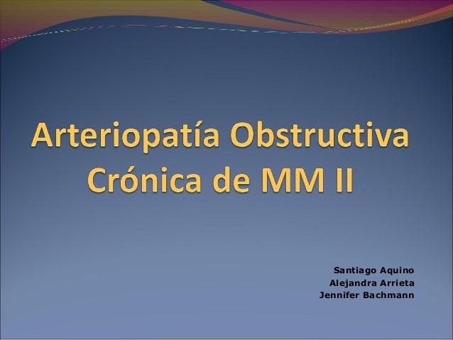 Arteriopatía Obstructiva Crónica