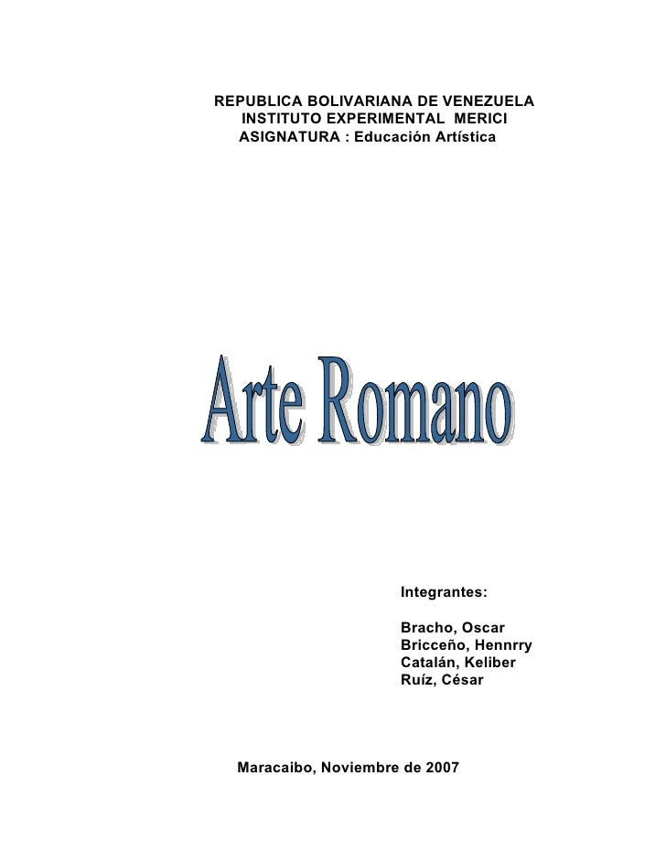 REPUBLICA BOLIVARIANA DE VENEZUELA   INSTITUTO EXPERIMENTAL MERICI  ASIGNATURA : Educación Artística                      ...