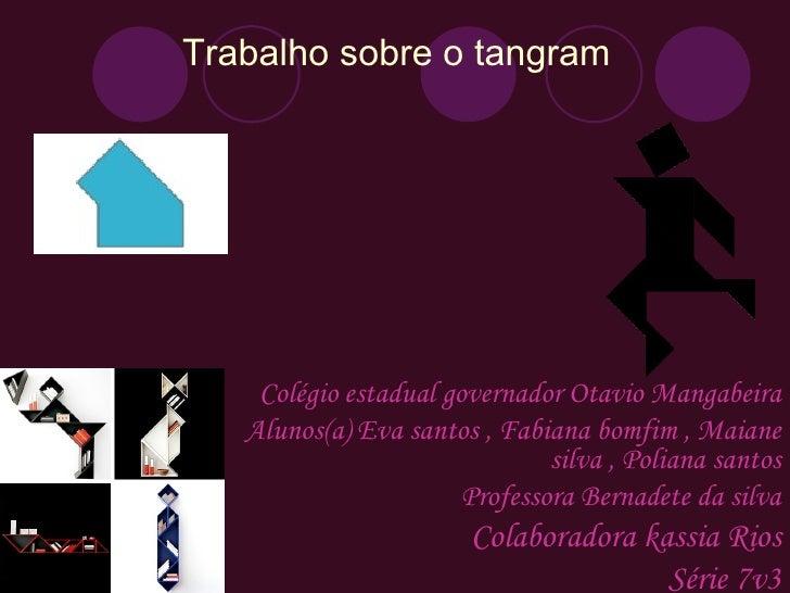 Trabalho sobre o tangram