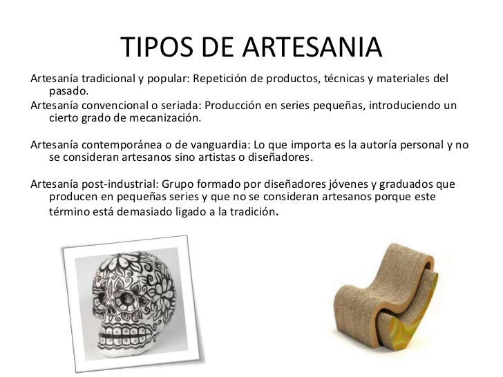 Artesania for Tipos de vanguardias