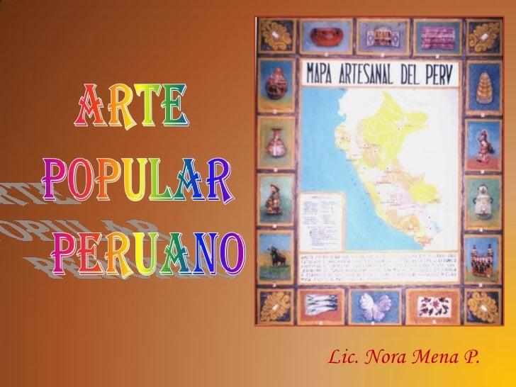 Lic. Nora Mena P.