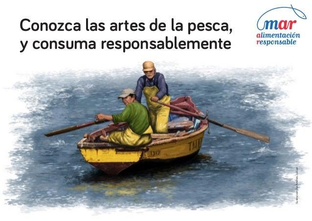 Ilustración de Andrés Jullian  Conozca las artes de la pesca, y consuma responsablemente