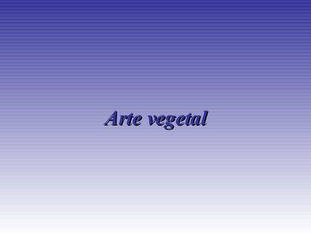 Artevegetal