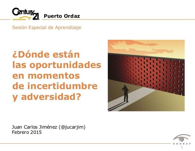 1Puerto Ordáz – Sesión Especial de Aprendizaje – Febrero 2015 Puerto Ordaz Sesión Especial de Aprendizaje Juan Carlos Jimé...