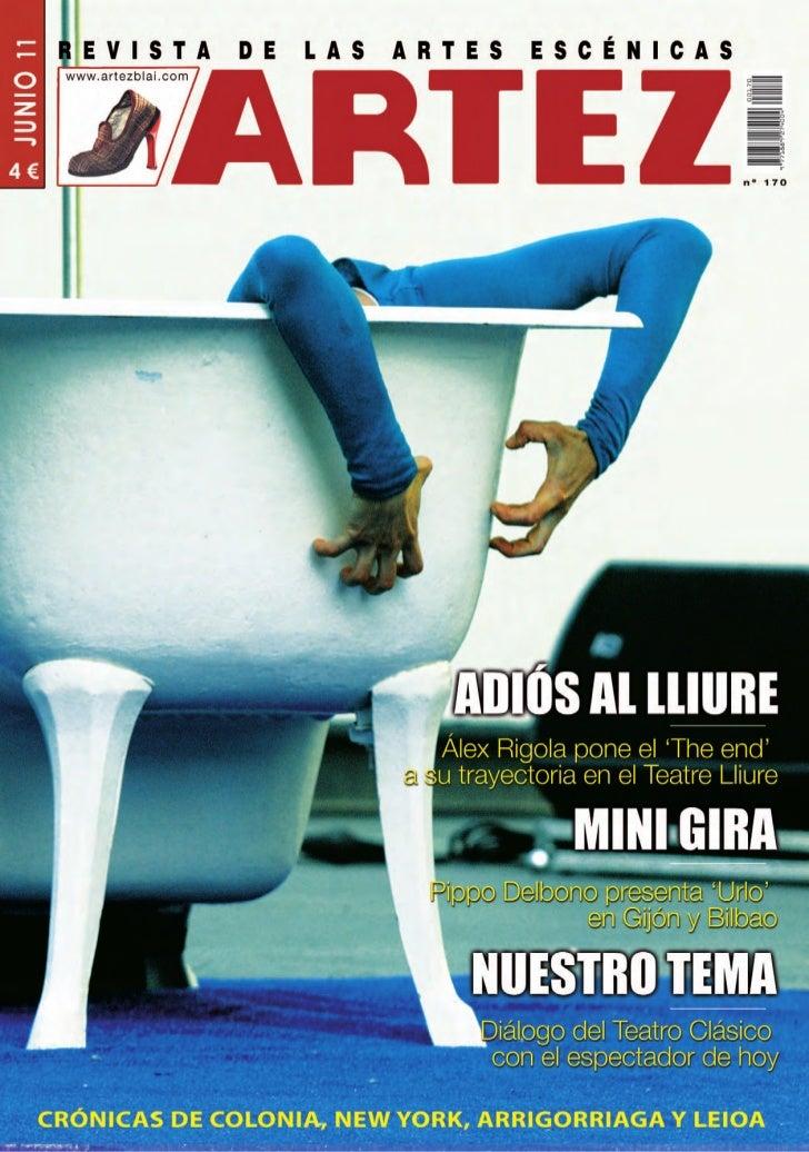 EditorialLa Cultura no puede perteneceral ámbito de la beneficiencia      Hombres y mujeres de la Cultura debe-           ...