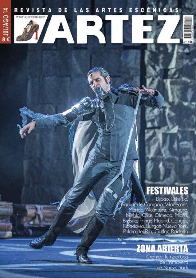 Carlos Gil Zamora Número: 198 - año 18 · Julio / Agosto 2014 | Depósito Legal: SS-1154/97 Edita: Artez Blai | Aretxaga 8 b...