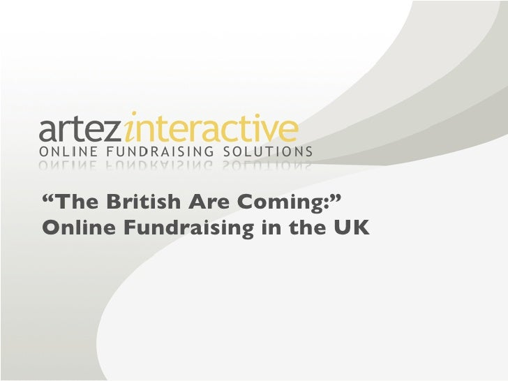 """The British Are Coming:"" Online Fundraising in the UK"
