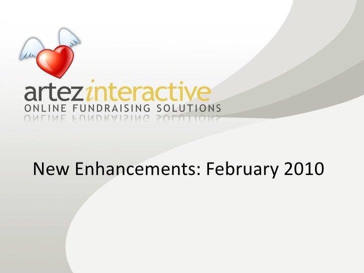 New Enhancements: February 2010