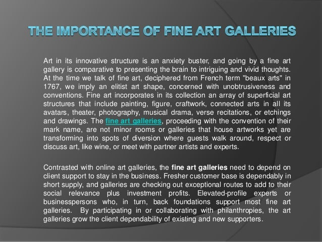 art importance of galleries The importance of art galleries the importance of art galleries skip navigation sign in search loading close yeah, keep it undo close.