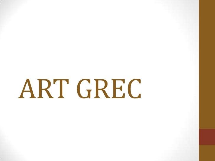 ART GREC<br />