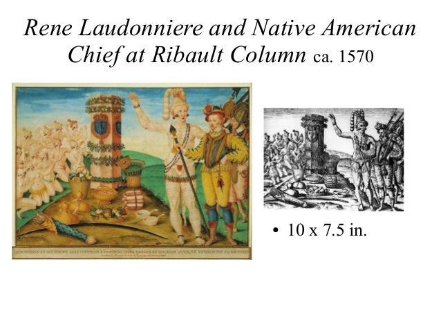Rene Laudonniere and Native American Chief at Ribault Column ca. 1570 ● 10 x 7.5 in.