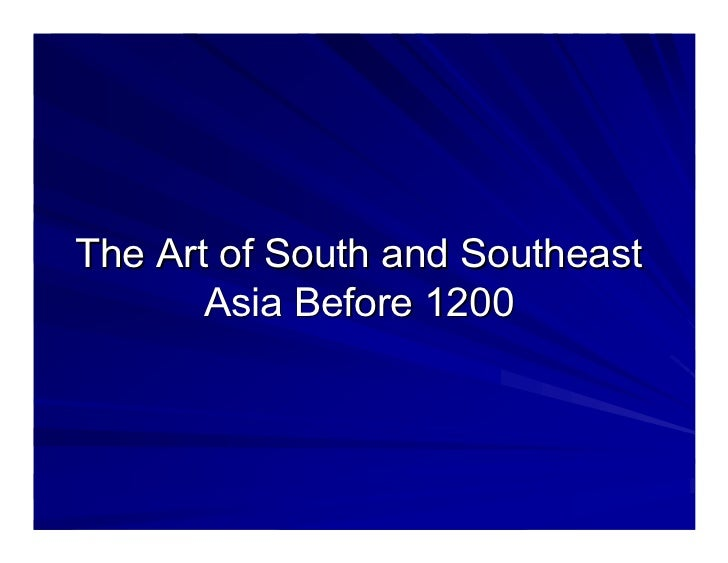 Art history of india and south east asia