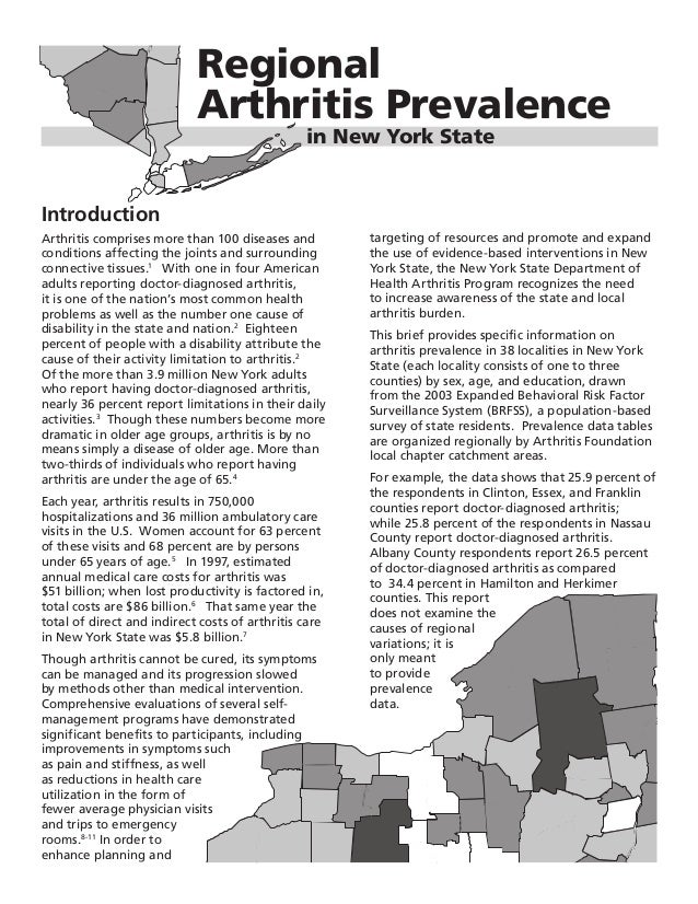 Global Medical Cures™| New York Arthritis Prevalence