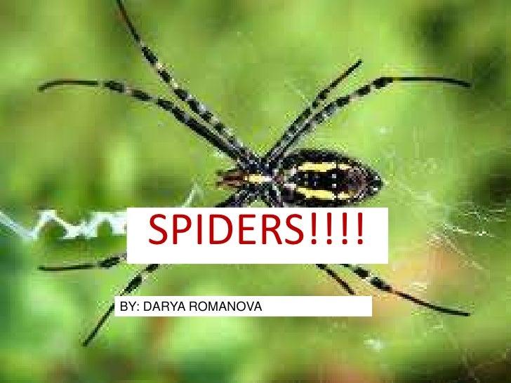 SPIDERS!!!!<br />BY: DARYA ROMANOVA<br />
