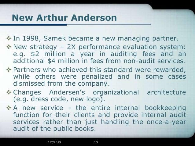 authur anderson management essay