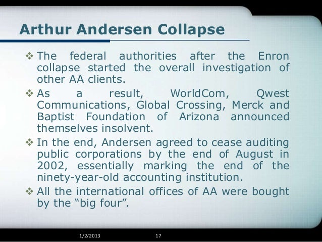 enron and worldcom scandals A worldcom official notified andersen over two years ago the company was andersen ignored warnings on worldcom, memos the documents also appear to show that worldcom's accounting scandal began earlier and was noticed by more employees than the company's current.