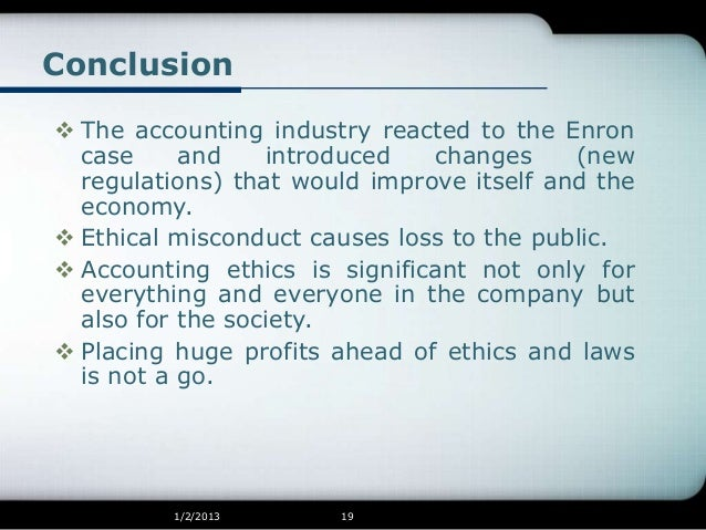 reaction papers on enron scandal
