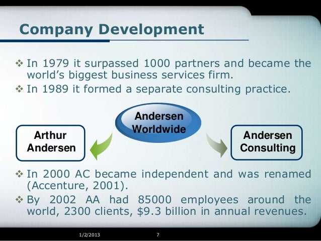 arthur andersen accounting scandal Arthur andersen accounting firm dismisses david b duncan, partner in charge of auditing enron corp, saying he ordered destruction of thousands of documents and e-mail messages on oct 23.