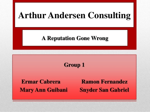 arthur andersen case study answers