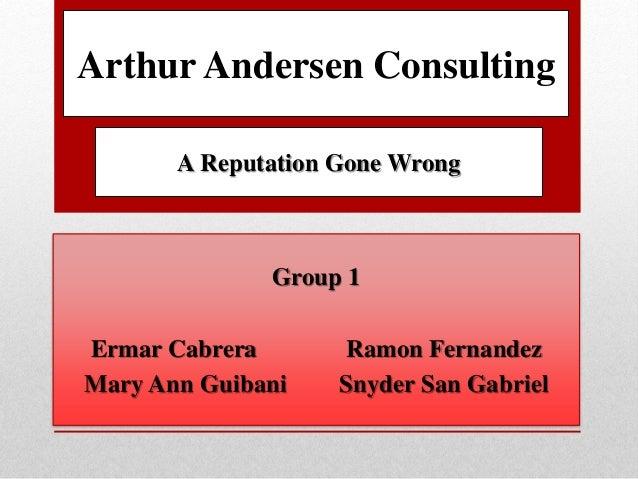 arthur andersen shredding the reputation and