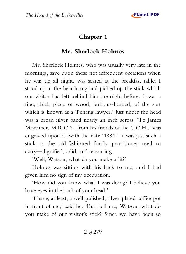 sherlock holmes 11 essay The hound of the baskervilles questions and answers - discover the enotescom community of teachers, mentors and students just like you that can answer any.