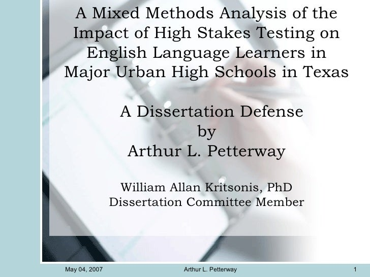 Dr. Arthur L. Petter, PhD Dissertation Defense, Dr. William Allan Kritsonis, Dissertation Committee Member