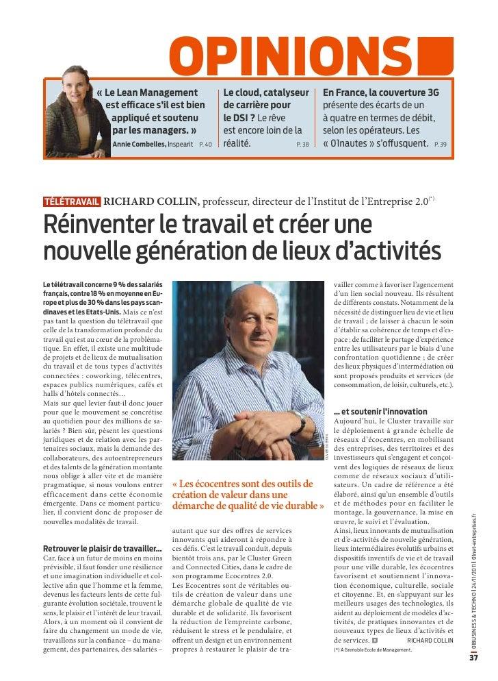 «Le Lean Management                                                 opinions          Le cloud, catalyseur        En Fran...