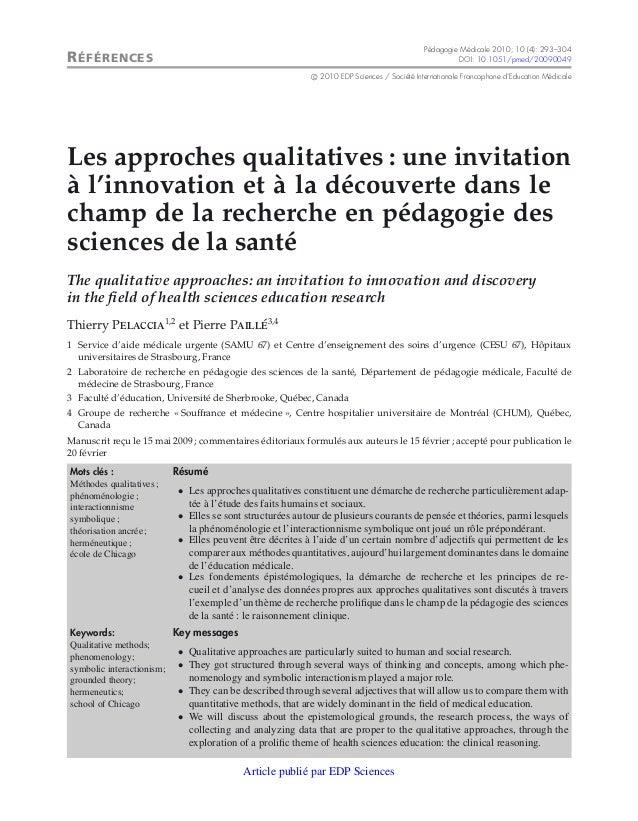 Pédagogie Médicale 2010; 10 (4): 293–304R ÉFÉRENCES                                                                       ...