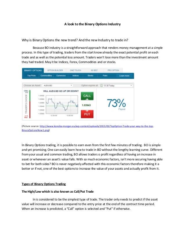 Binary options industry news