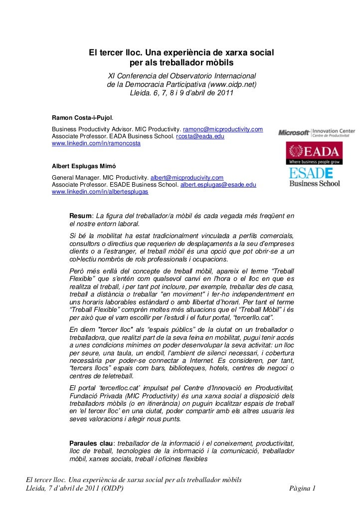 Article comunicacio-3r llocxarxasocialtreballadormobils-oidp-lleida-20110407-r-costa-aesplugas