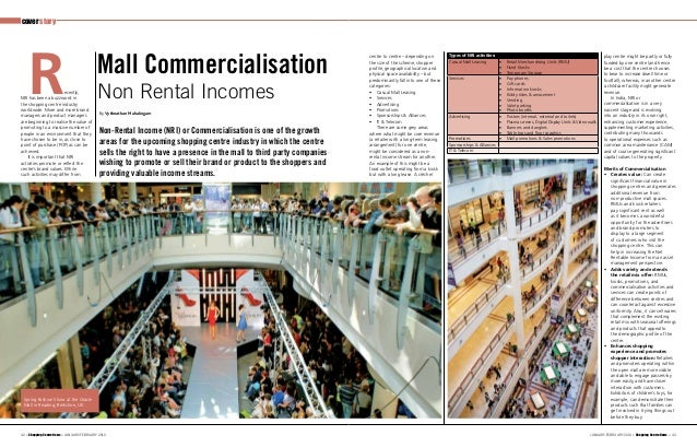 Commercialisation of Shopping Centres