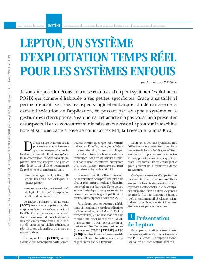 Ce document est la propriété exclusive de Philippe LE BOULANGER (lepton.phlb@gmail.com) - 11 octobre 2013 à 12:23  LEPTON,...